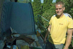 Bienenschwarm mit Dachdecker Jens in Bad Godesberg