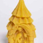 Baumkrippe mit heiliger Familie | Bienenwachskerzen aus dem Honighäuschen